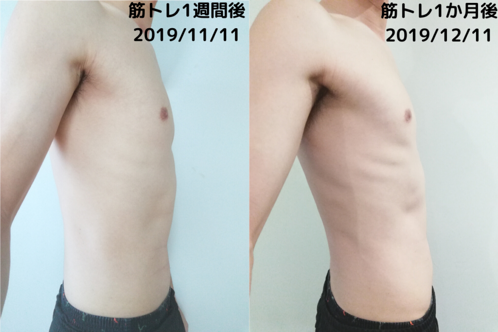 筋トレbefore&after(side)